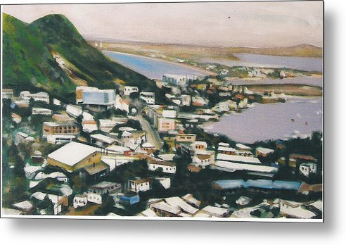 Historic Caribbean Island Metal Print featuring the painting St Maartin St Martin by Howard Stroman