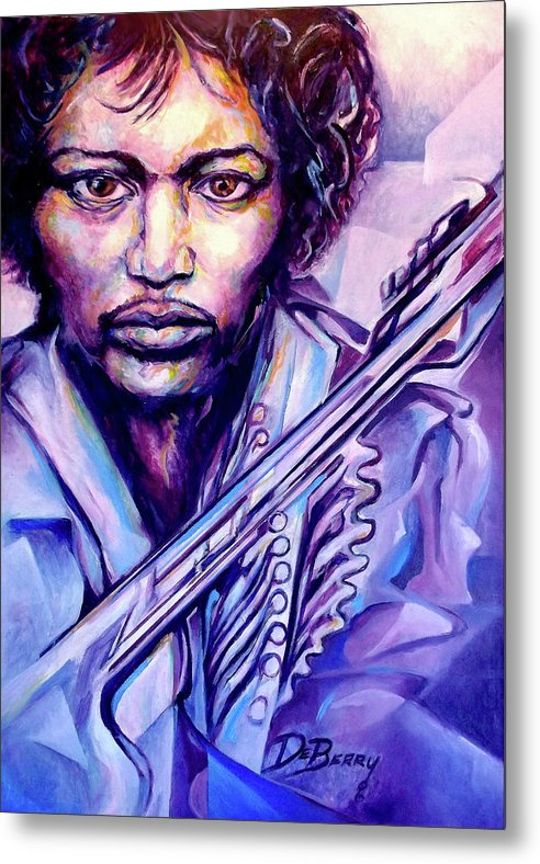 Metal Print featuring the painting Jimi by Lloyd DeBerry