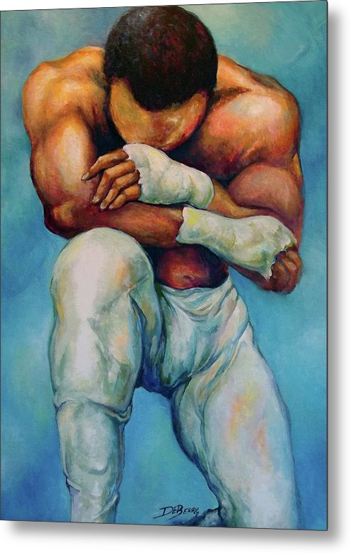 Michael Metal Print featuring the painting Michael The Print by Lloyd DeBerry