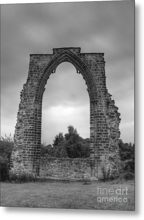 Arch Metal Print featuring the photograph darley Abbey arch by Steev Stamford