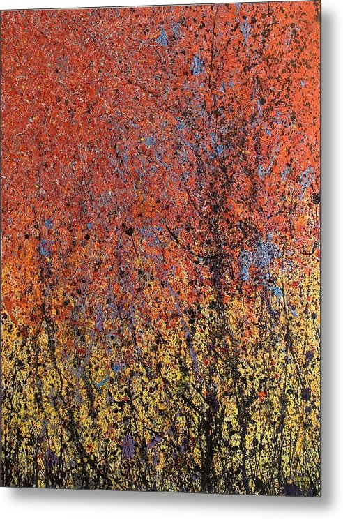 Abstract Metal Print featuring the painting New World's Eve by Steven Dean