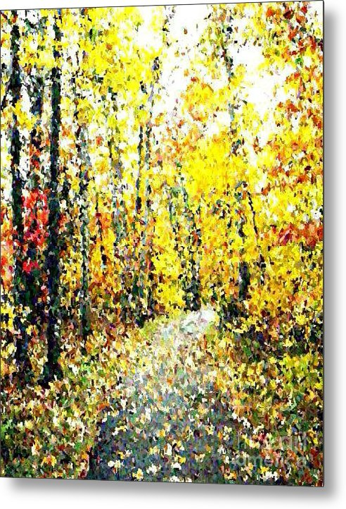 Fallscape Metal Print featuring the painting Fallen Leaves Of Autumn by Don Phillips