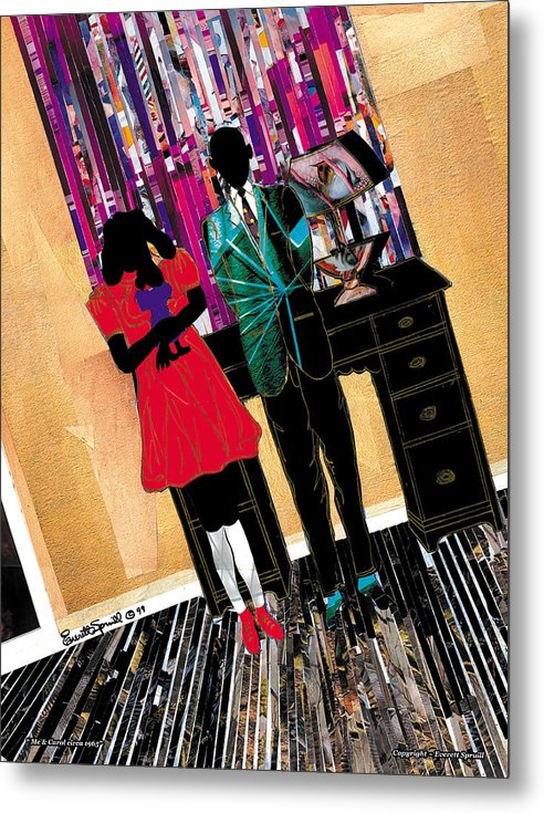 Everett Spruill Metal Print featuring the painting Me and Carol by Everett Spruill
