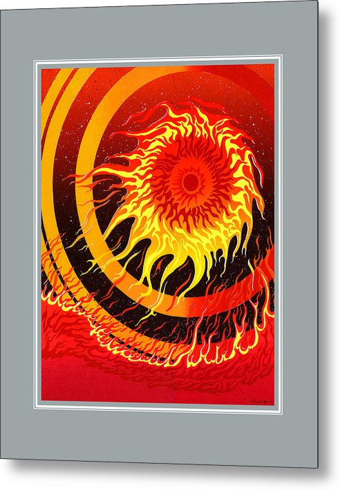 Fire Metal Print featuring the painting Fire by Santi Arts