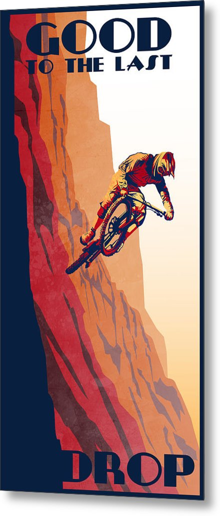 Retro cycling fine art poster Good to the Last Drop by Sassan Filsoof