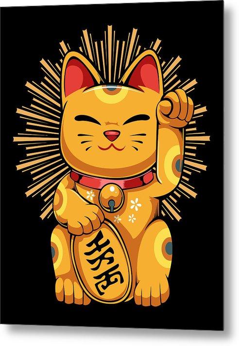 Maneki Neko Japanese Lucky Cat Kawaii Koban Feng Shui by Jane Arthur