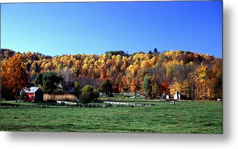 Autumn Colors Metal Print featuring the photograph 102201-64 by Mike Davis