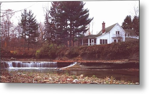 Waterfall Metal Print featuring the photograph 111701-12 by Mike Davis