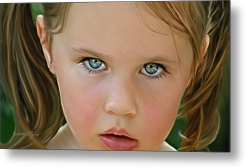 Metal Print featuring the painting Those Eyes by Elzire S