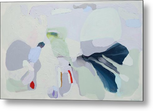Abstract Metal Print featuring the painting Breathe by Claire Desjardins
