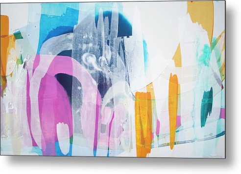 Abstract Metal Print featuring the painting Icing On The Cake by Claire Desjardins