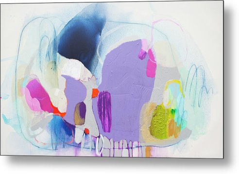 Abstract Metal Print featuring the painting Sometime In June by Claire Desjardins