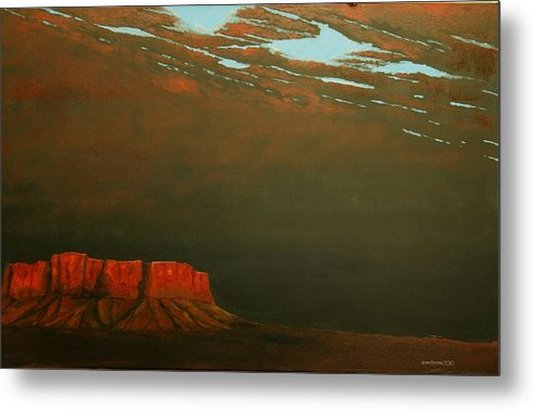 Southwest Metal Print featuring the painting Terra Rosa by Kerry Beverly