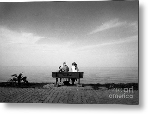 Bench Metal Print featuring the photograph Who Knows The Future by Candido Salghero