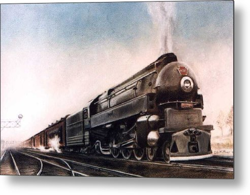 Trains Metal Print featuring the painting Broadway Limited by David Mittner