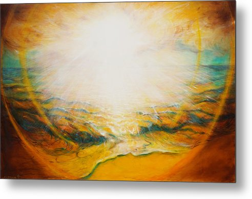Sun Metal Print featuring the painting The Sun by Anna IOURENKOVA
