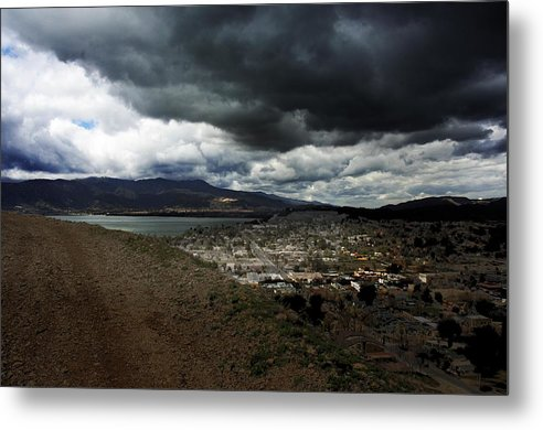 Landscape Metal Print featuring the photograph Lake Elsinore Waiting by Richard Gordon