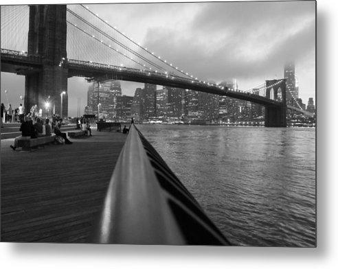 Brooklyn Bridge Metal Print featuring the photograph Manhattan Bridge by Nina Mirhabibi