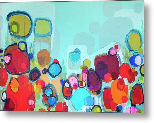Abstract Metal Print featuring the painting Always Will Be by Claire Desjardins
