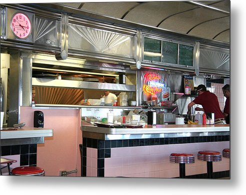Metal Print featuring the painting Haledon Diner by Randy Ford