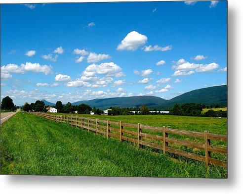 Landscape Metal Print featuring the photograph June Valley by Charles Vogan