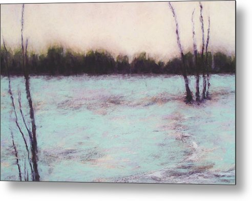 Landscape Metal Print featuring the pastel Morning Light by Kenneth DelGatto