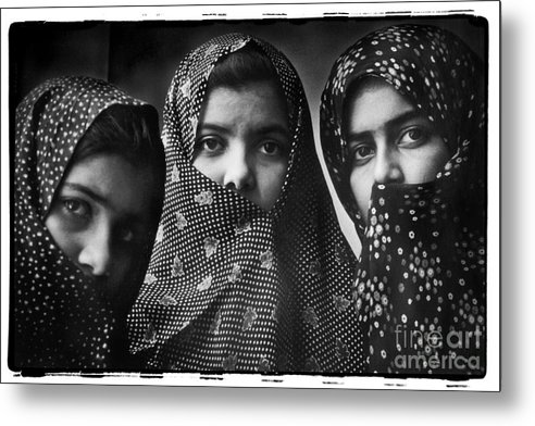 Iran Metal Print featuring the photograph Sisters, Mashhad, Iran 1977 by Michael Ziegler