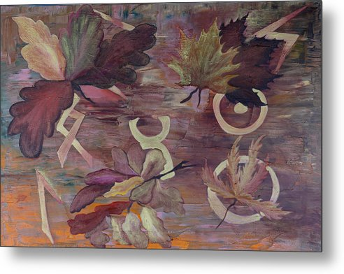 Abstract Metal Print featuring the painting The Spiritual Connection by Ara Elena