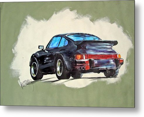 Auto Metal Print featuring the painting Carrera by Paul Miller