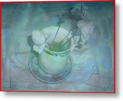 Skyworks Metal Print featuring the digital art Skyworks 2 Rose by Friedl Aigner