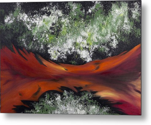 Abstract Metal Print featuring the painting The Conception Of Birth by Ara Elena