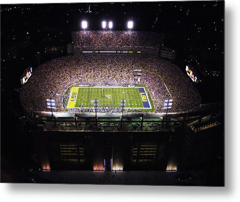 Louisiana State University Metal Print featuring the photograph Lsu Aerial View Of Tiger Stadium by Louisiana State University