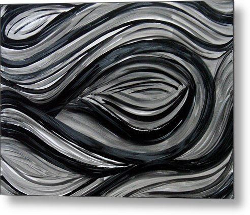 Acrylic Paintings Metal Print featuring the painting Forbidden by Shiree Gilmore