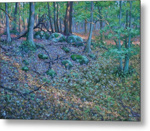Realism Metal Print featuring the painting Light Streams by Michael Vires