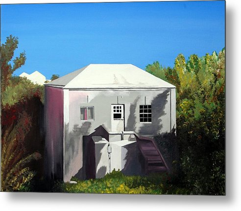 Island Scenes Metal Print featuring the painting Uncle Leons House by Caleb Bynum