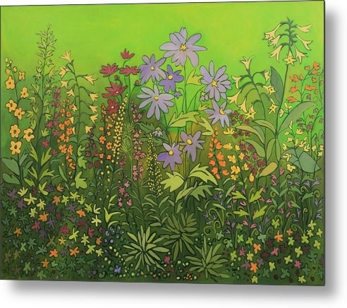 Contemporary Floral Painting Metal Print featuring the painting Artist by Susan Rinehart