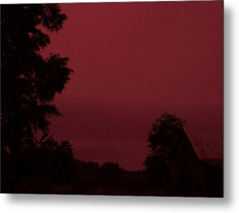 Landscape Metal Print featuring the print Untitled by Beverly Baxter