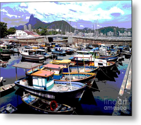Boats Boat Metal Print featuring the photograph Harbour 01 by Carlos Alvim