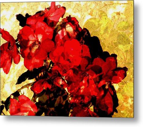 Flowers Metal Print featuring the digital art Roses by Sally Engdahl