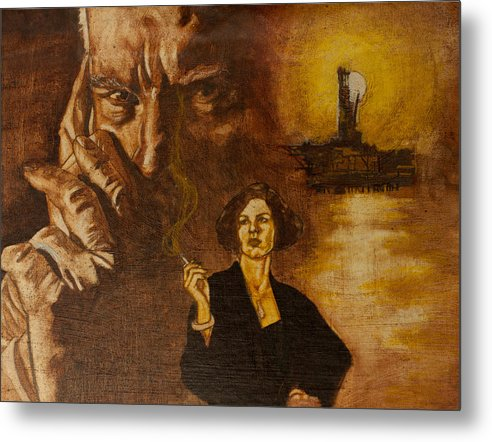 Oil Paint Metal Print featuring the painting An Inconvenient Intrigue by Michael Facey