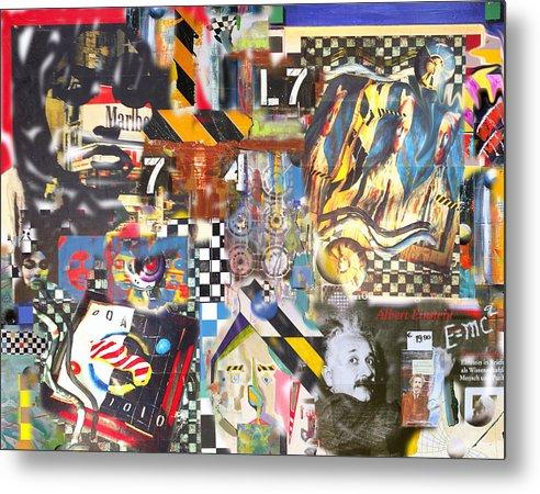 Art Metal Print featuring the digital art 7L7 by David Deak