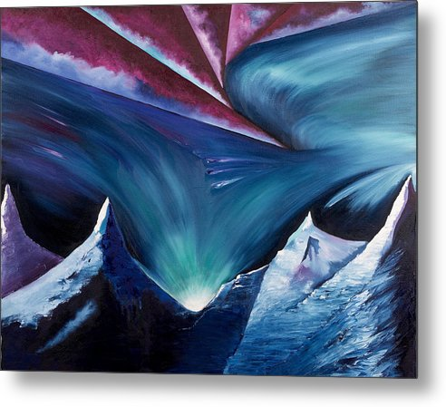 Abstract Landscape Metal Print featuring the painting The Power Within by Ara Elena