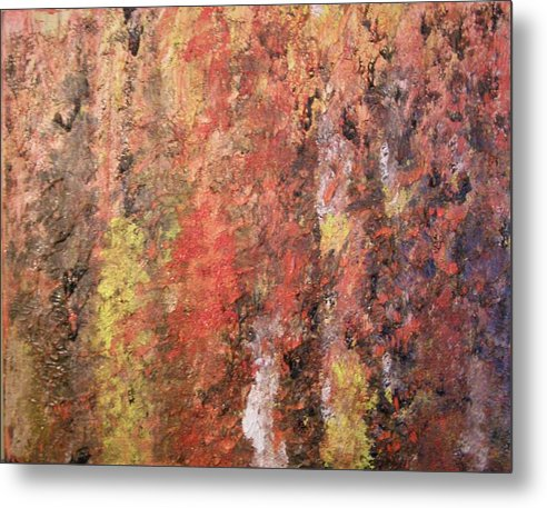 Abstract Metal Print featuring the painting Dreaming In Fall Colors by Don Phillips