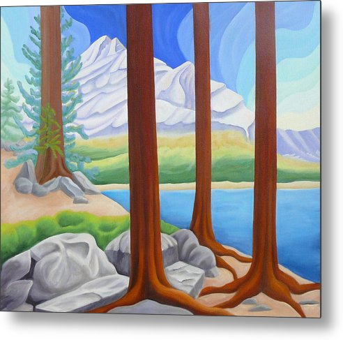 Landscape Metal Print featuring the painting Rocky Mountain View 1 by Lynn Soehner