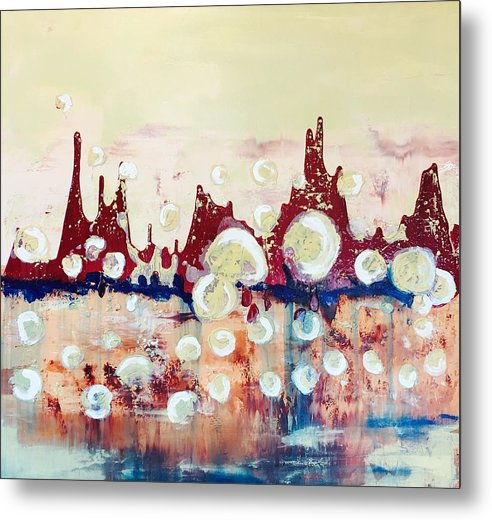Bubbles Metal Print featuring the painting Boiling by Mary Rimmell