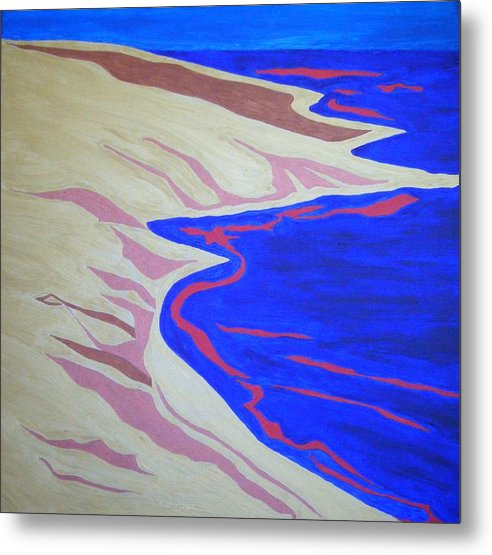 Gold Metal Print featuring the painting Peace by Lauran Childs