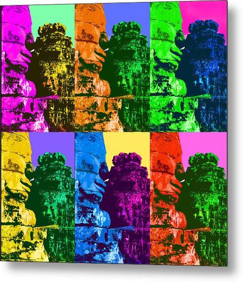 Angkor Metal Print featuring the digital art Angkor Warhol #2 by Brad Spencer