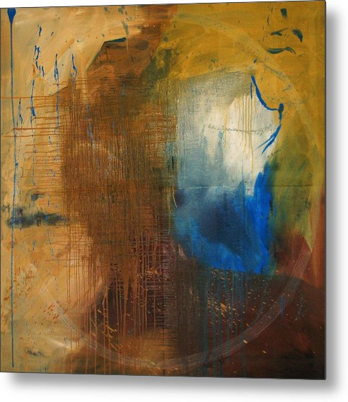 Abstract Metal Print featuring the painting Me - Abstract Colors by Niki Sands