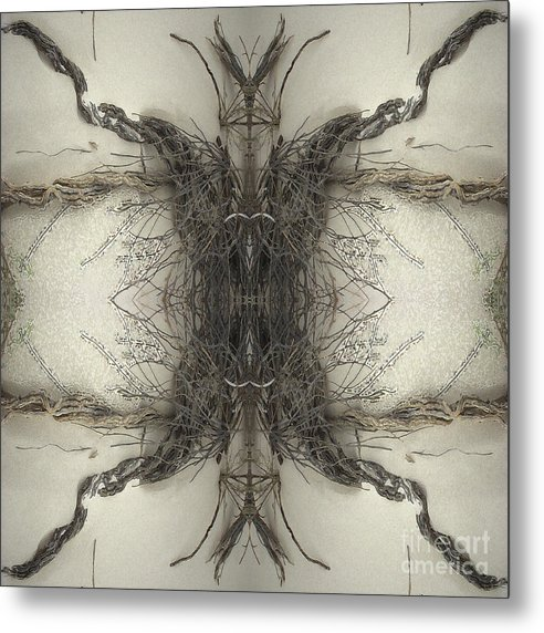 Roots Metal Print featuring the digital art Roots Two by Carina Kivisto