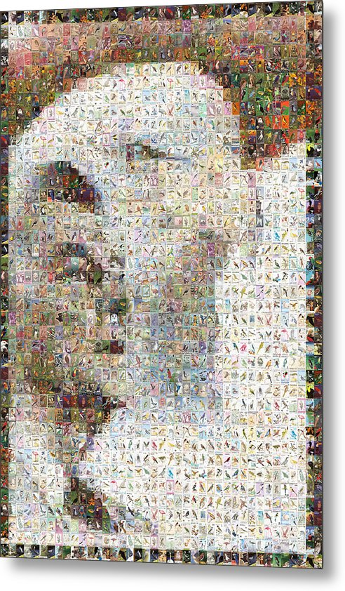 Mosaic Metal Print featuring the digital art Reagan by Gilberto Viciedo